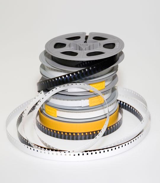 Een stapel 8mm film